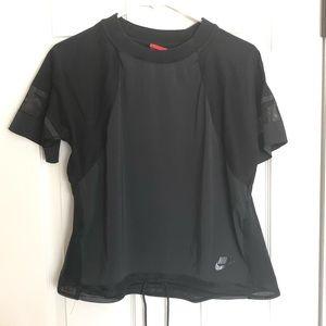 Nike black draw string waist top sz. S